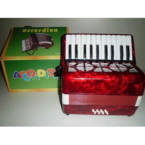 Acordeom Sanfona Gaita Infantil 22 Teclas 8 Baixos Musical