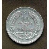 Moneda 10 Pesos Un Condor, Año 1957