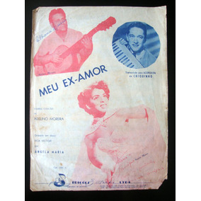 Partitura Antiga Música Meu Ex Amor Samba Acordeon