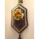 Bellos Cuadros Camafeo De Rosas En Porcelana Capodimonte