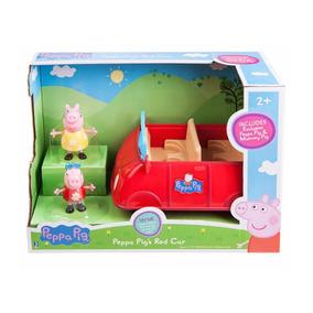 Carro Vermelho Peppa Pig C/ Som - Grande - P/ Entrega