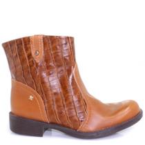 Bota Cravo E Canela Ankle Boot Couro | Zariff