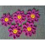 Flor De Crochê Kit Com 5 Peças Para Tapetes Cozinha Sala