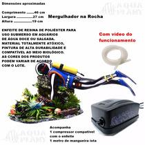 Enfeite P Aquários Mergulhador Oxigenador, Compressor 220v