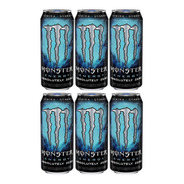 Energetico Monster Energy Fardo Caixa Com 6 Latas De 473ml