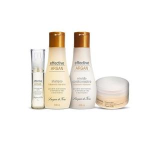 Kit Shampoo + Condicionador + Mascara Capilar +fluido Argan