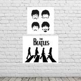 Decoração De Quarto Poster The Beatles Kit - Melhor Que Mdf