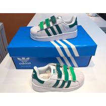 Zapatillas Adidas Superstar Niños Con Abrojos 28 Al 33