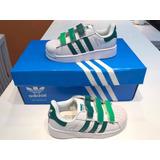 Zapatillas adidas Superstar Niños Con Abrojos 32 33 34