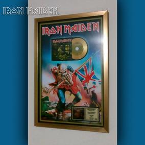 Cuadro Iron Maiden Disco De Oro Album Piece Of Mind
