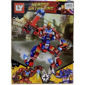 Bloco De Montar Guerra Civil Armadura Hulkbuster Homem Ferro