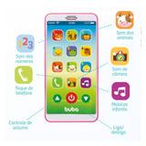 Celular Infantil Baby Phone Alô Bebê - Rosa - Buba Toys