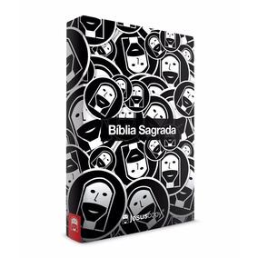 Bíblia Sagrada Jesus Copy Preto Branco Nvt Capa Dura