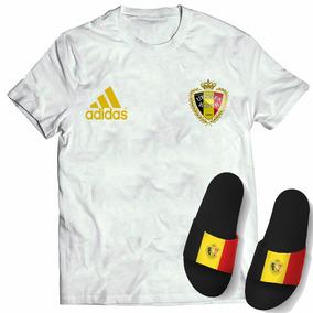 Kit Camisa + Chinelo Slide Seleção Bélgica Copa Mundo 2018
