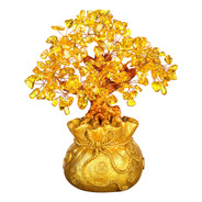 Enfeite Árvore Do Dinheiro Cristal Riqueza Sorte Feng Shui