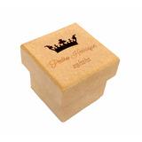 Caixa 5x5x5 Coroa Menino Mdf Crú Nome/data Lembrancinhas R15