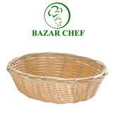 Panera Oval Grande De Mimbre 25 Cm X5 Un - Bazar Chef