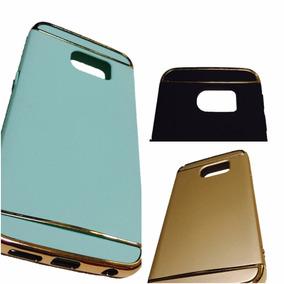 Funda Galaxy S7 Edge Cromo Bumper Lujo 3 Partes