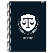 Caderno Direito 2017 Espiral Capa Dura 10 Matérias