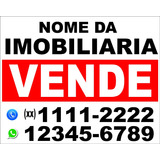 01 Placa Vende - Se Ou Aluga - Se P/ Imobiliarias
