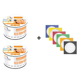 100 Cd-r Virgem Multilaser + 100 Envelope De Papel C/ Visor
