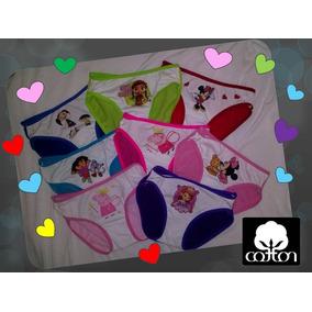 Pantaletas Niñas Algodon De Pepa, Princesa,minie,pony,barbie