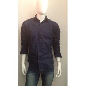 Camisa De Vestir Hombre Azul