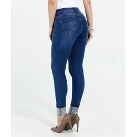 Kit C/10 Calças Feminina Jeans Cigarrete Skinny Lycra Barato