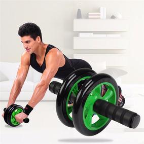Roda Rolo Exercicios Abdominal Lombar Exercise Wheel + Apoio