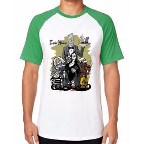 Camiseta Família Addams Blusas Manga Curta Tamanho