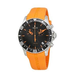 Relógio Masculino Mido Suíço Ocean Star Laranja Borracha