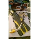 Snorkel, Careta Y Chapaletas Marca Body Glove.. ( Nuevo)