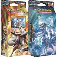 2 Decks Pokémon Sombras Ardentes Ninetales Lycanroc - Copag