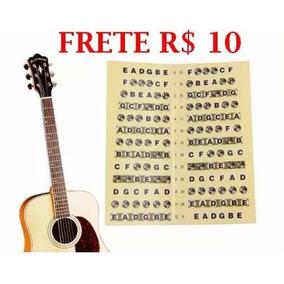 Adesivo Escala Marcador Notas Violao Guitarra Frete R$ 10,00