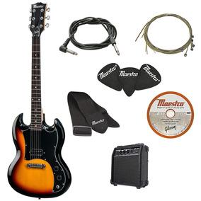 9ddbade3c5f1a Precio. Publicidad. Anuncia aquí · Gibson Guitarra Eléctrica Tamaño  Completo Maestro Amp Paquet