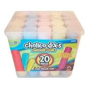 Scentos 20 Tizas Grandes Para Niños - Chalk A Doos