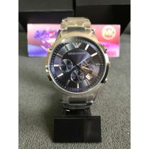 Relógio Emporio Armani Ar2448 Prata C/ Azul 100% Original