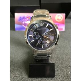 Relógio Emporio Armani Ar2448 Azul 100% Original 12x S/juros