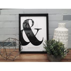 Cuadros Minimalistas 30x40 Diseño Blanco Y Negro