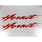 Emblema Adesivo Resinado Honda Hornet Cb600f 2008 Vermelho