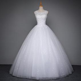 Vestido De Noiva Importado Princesa Trançado Renda Tule