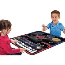 Bateria Musical Infantil Y Piano Niños Alfombra Tapete