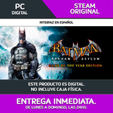 Entrega Ya! Pc Batman Arkham Asylum Goty | Steam