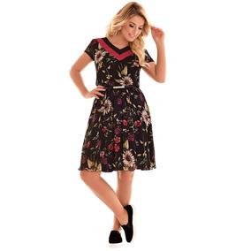Vestido Vestido Fascinius Decote Duas Cores Moda Evangélica