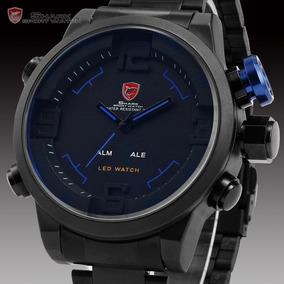 Reloj Para Hombre Militar Análogo Digital Shark Blue Oferta
