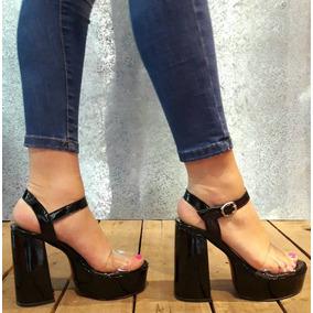 232c093b Zapatos Nude Fiesta - Sandalias de Mujer Negro en Mercado Libre ...