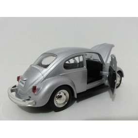 Miniatura Volkswagen Fusca Prata (pra Colecionador)