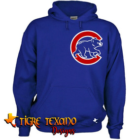 Sudadera Mlb Cachorros Chicago Cubs By Tigre Texano Designs