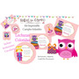 Kit Imprimible Lechuzas Buhos Coloridos Candy Deco Cumples