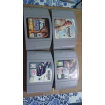 Pack De 4 Fitas Originais De Console De Nintendo 64!!!!!!!!!